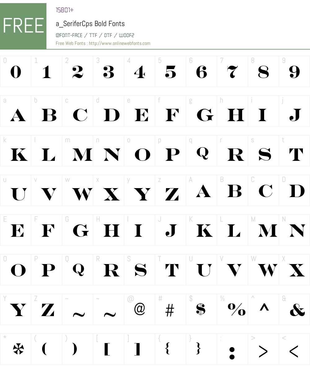 a_SeriferCps Font Screenshots
