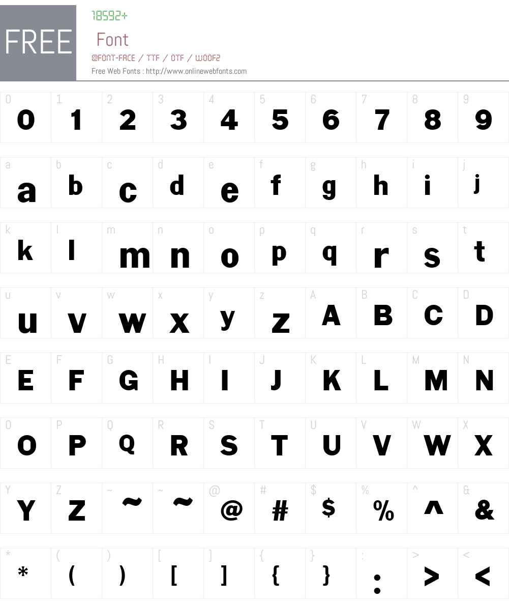 LargoD Font Screenshots