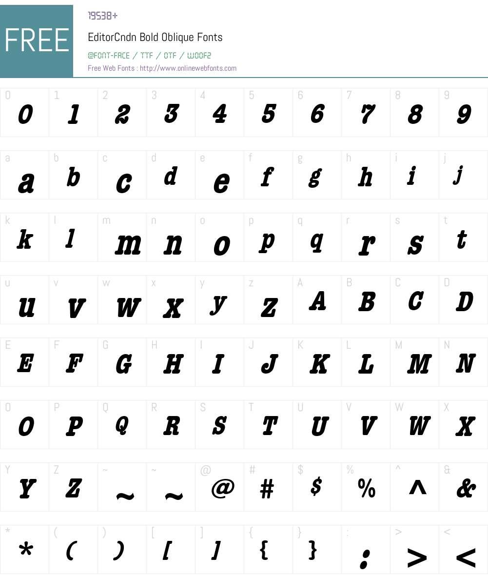 EditorCndn Font Screenshots