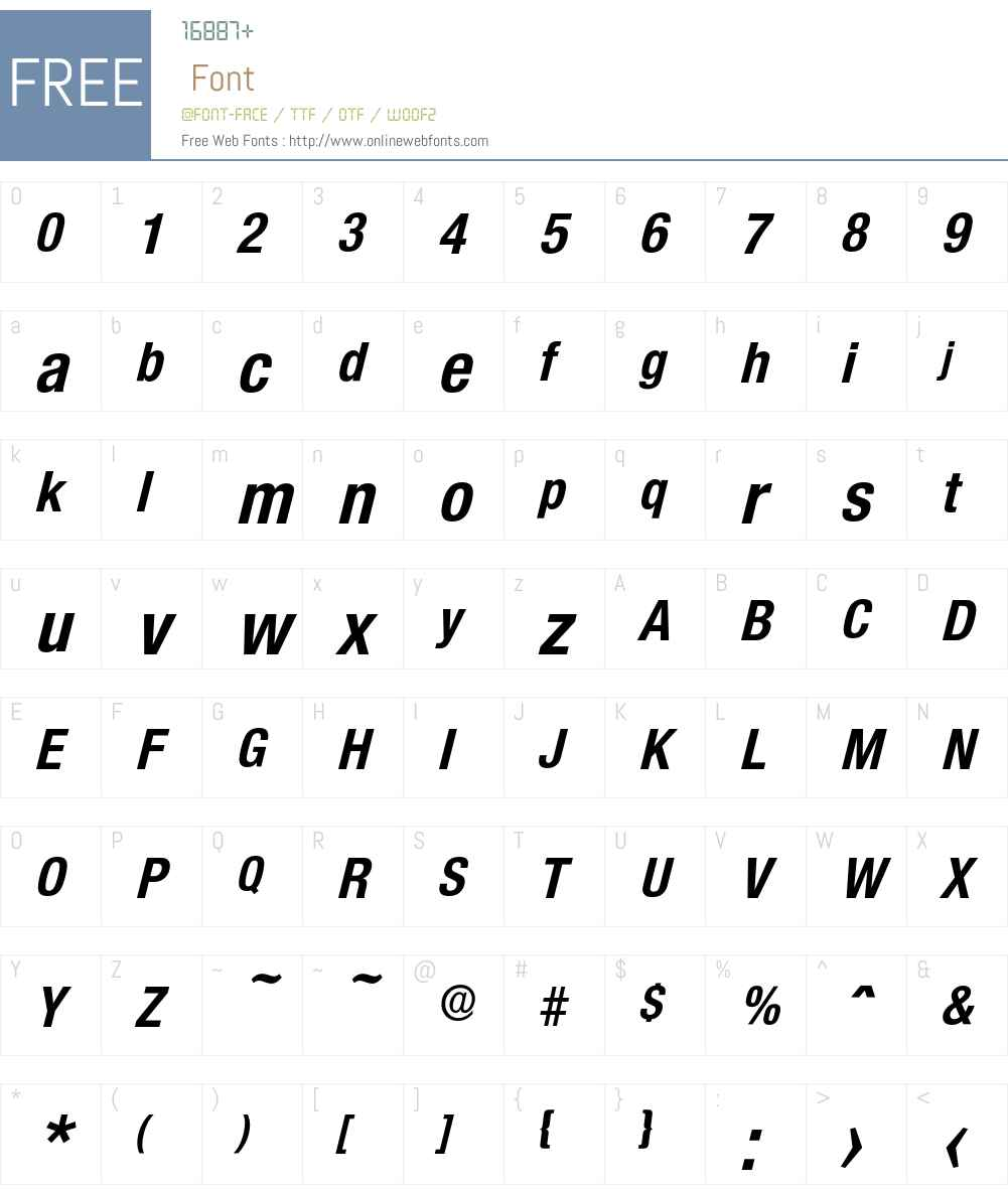 Olnova-BoldCondIta Font Screenshots