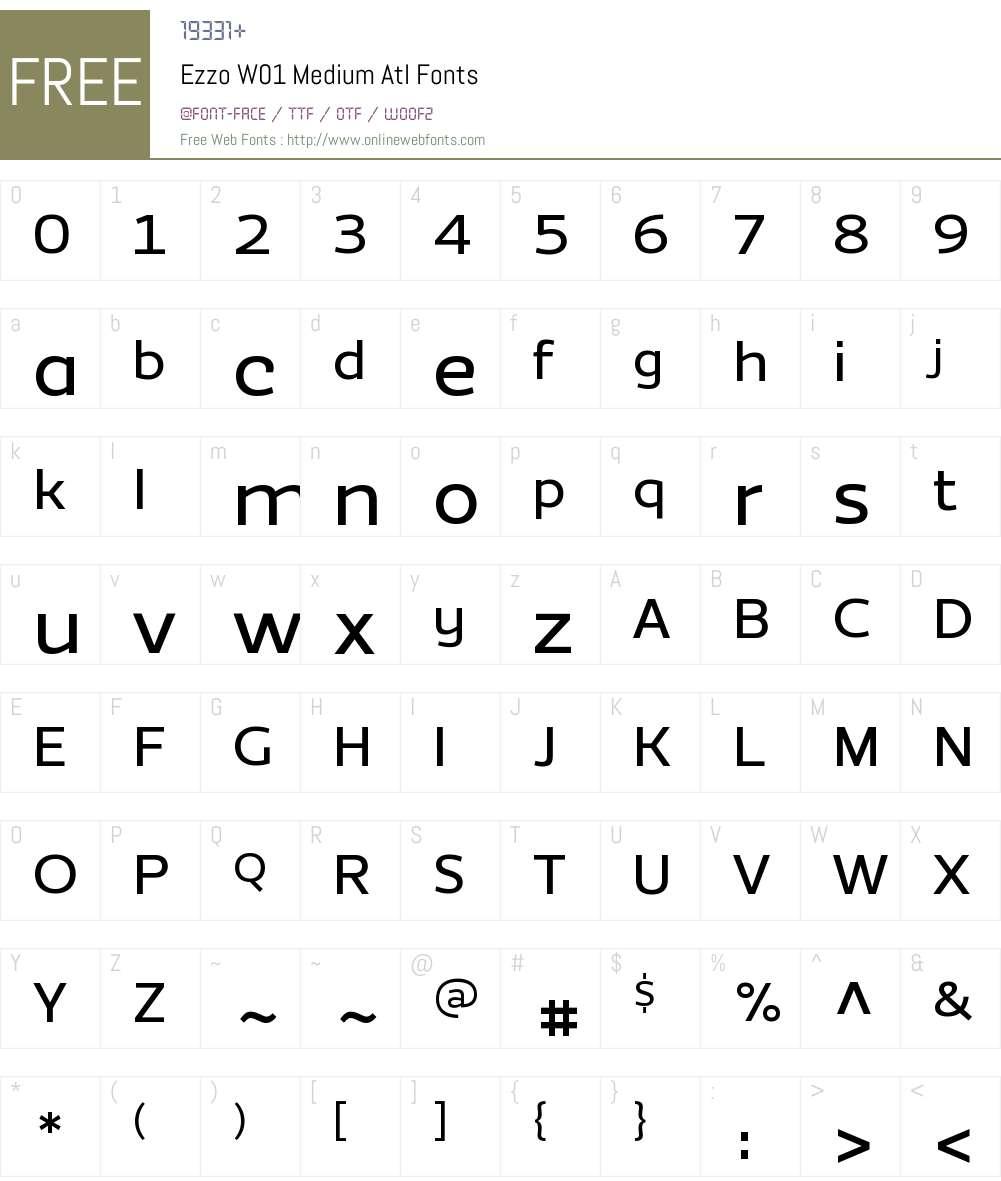 EzzoW01-MediumAtl Font Screenshots