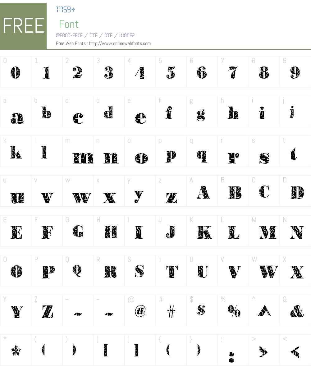 BodoniStrokes Font Screenshots