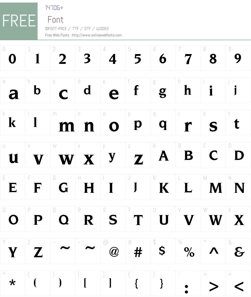 NovareseEF-Bold Font Screenshots