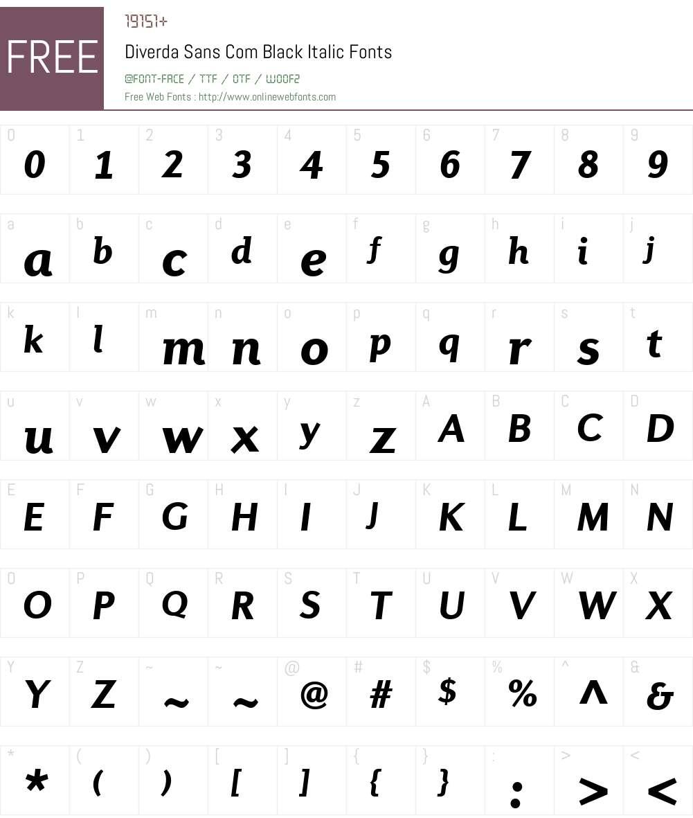 Diverda Sans Com Font Screenshots