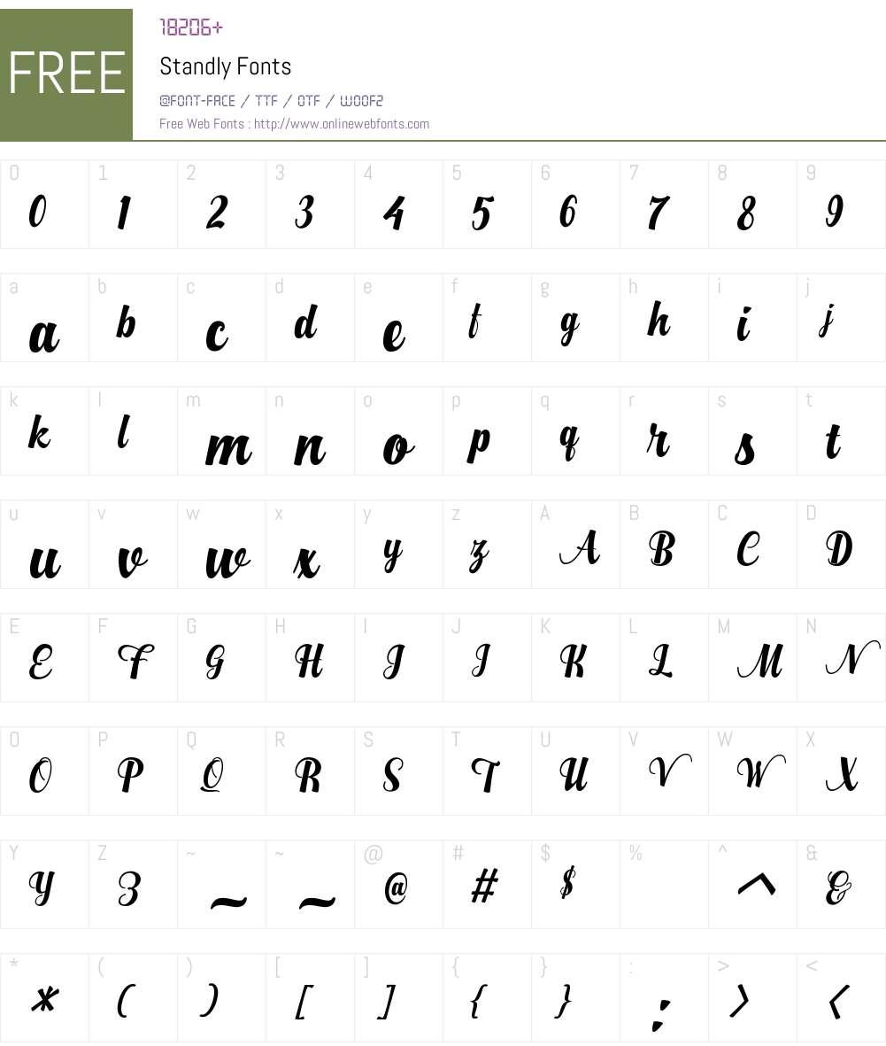 Standly Font Screenshots