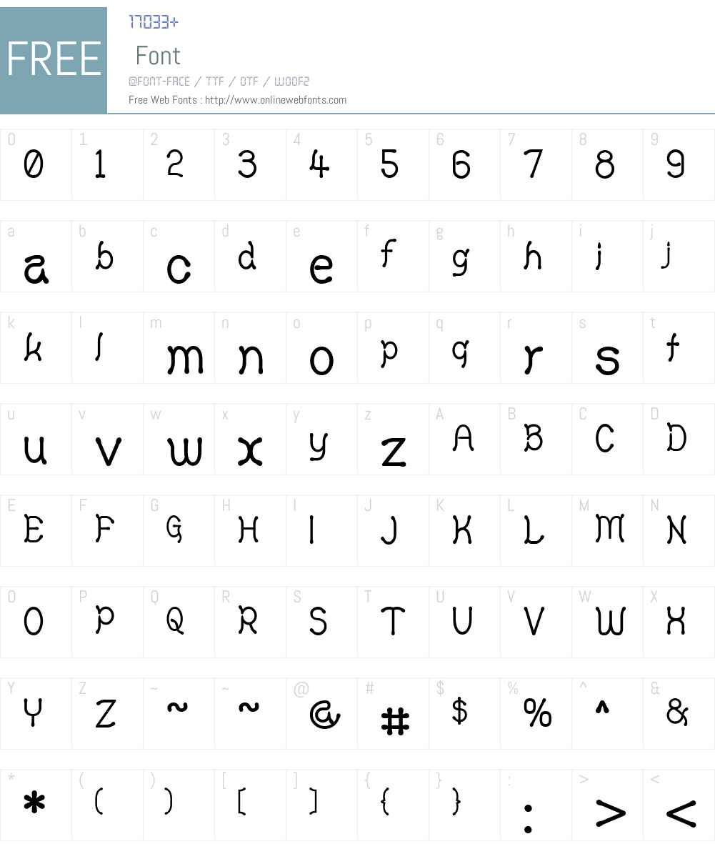 Yellowswamp Font Screenshots