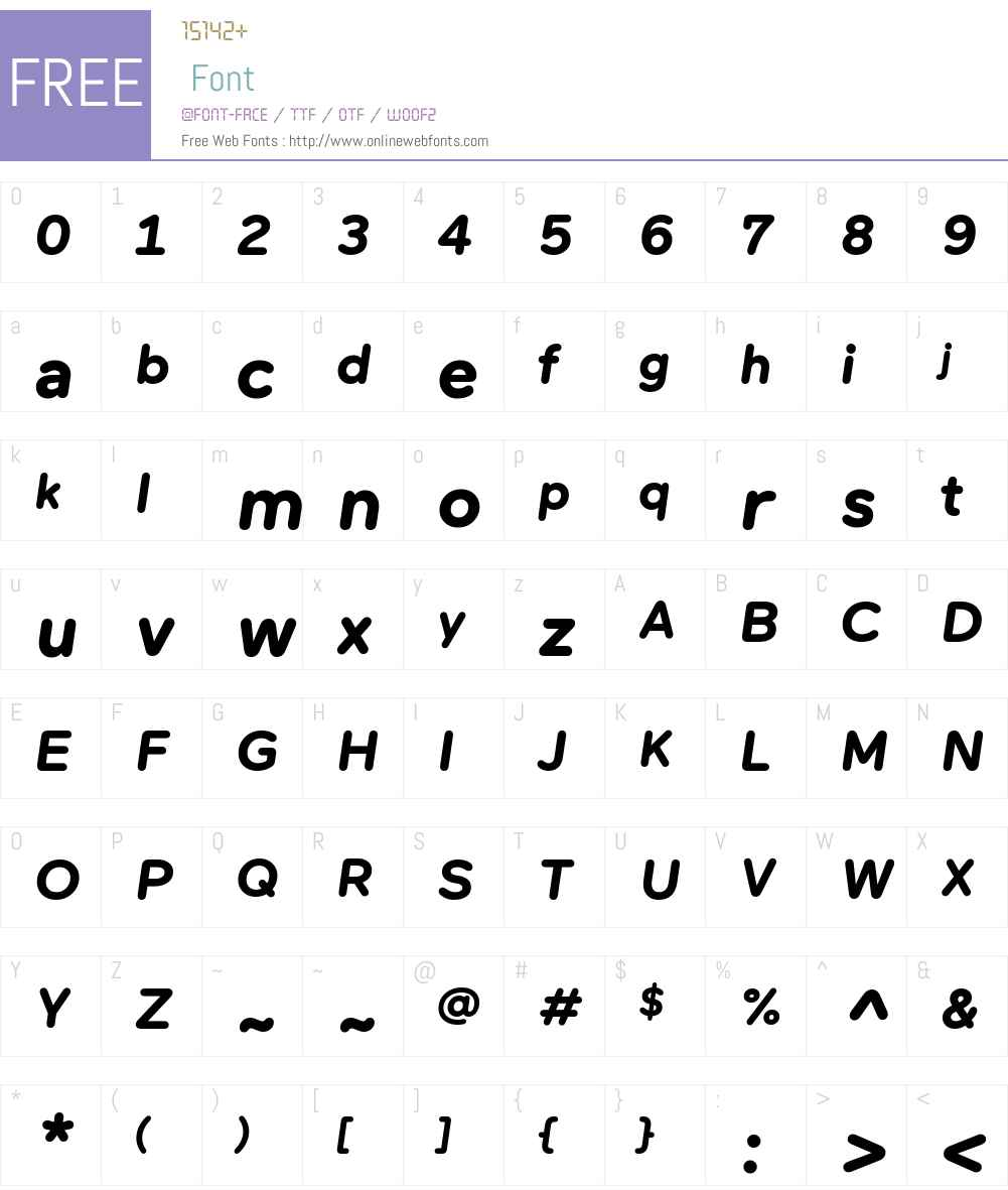 Maax Rounded Font Screenshots