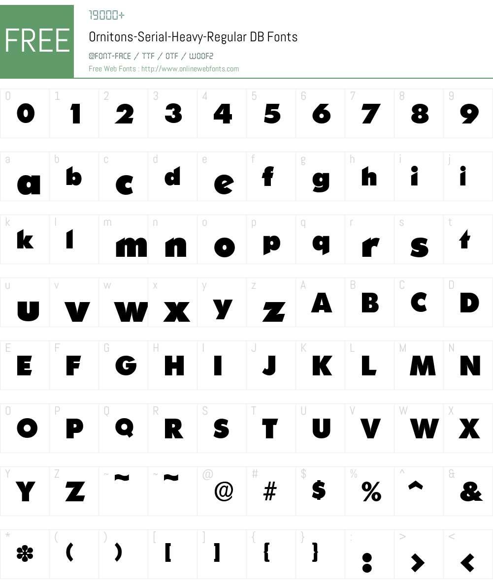 Ornitons-Serial-Heavy DB Font Screenshots
