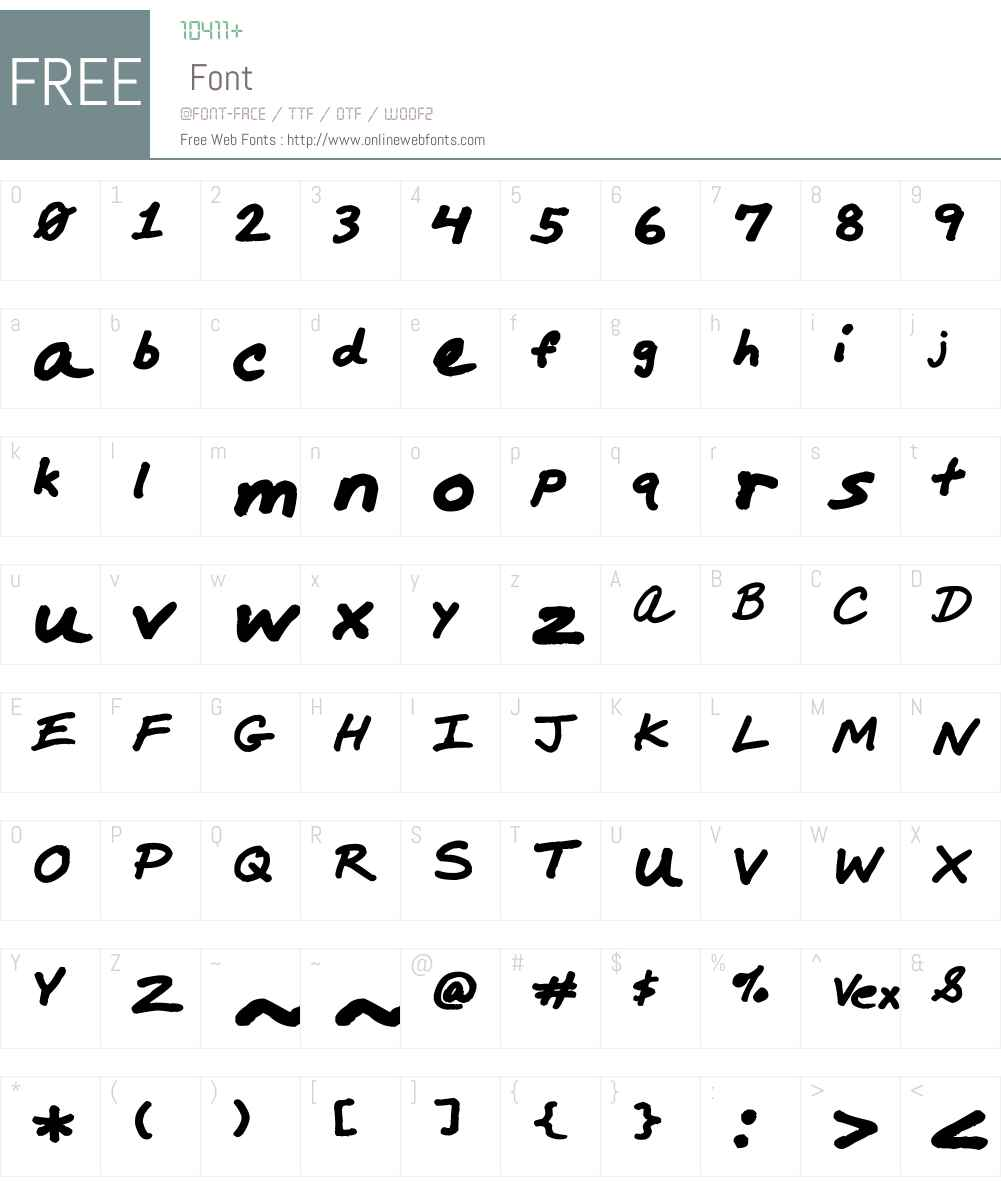 Marker Comp Font Screenshots