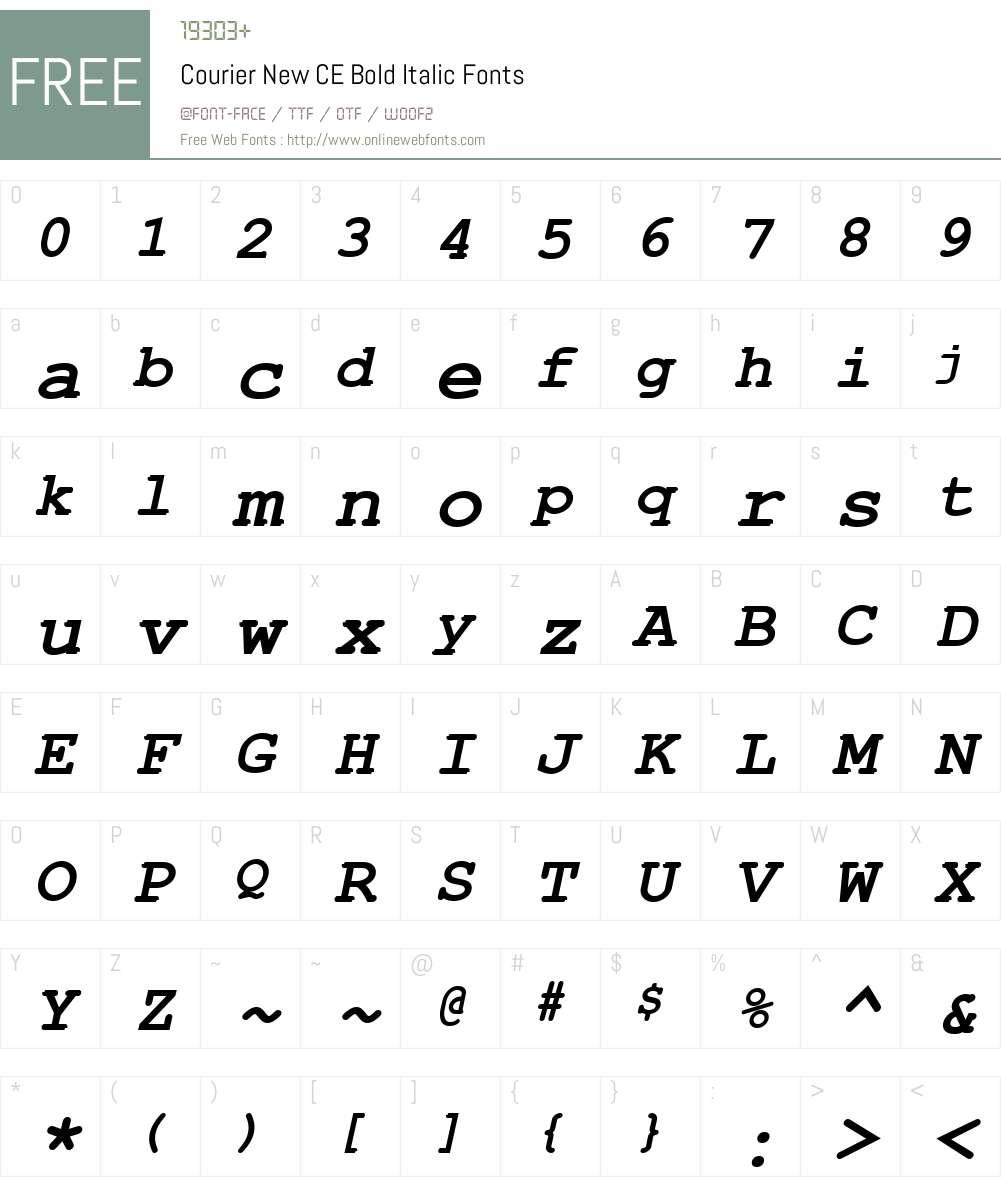 Courier New CE Font Screenshots