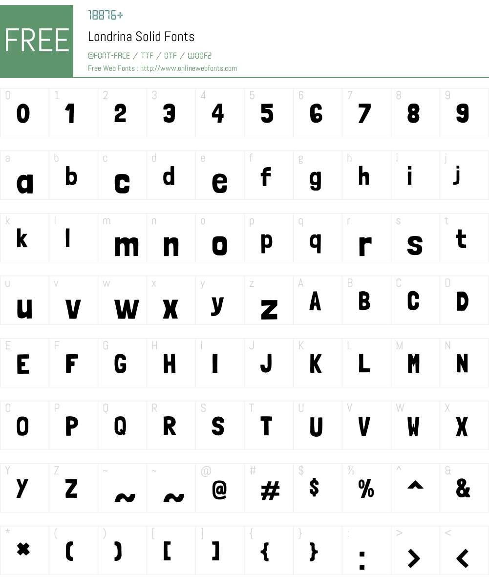 Londrina Solid Font Screenshots