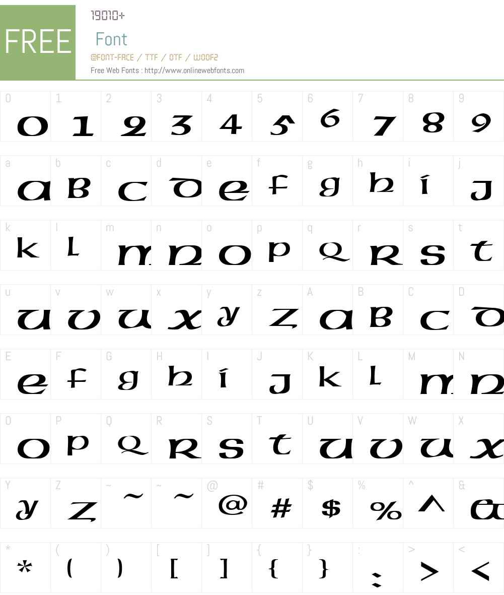 Celtic-Extended Font Screenshots