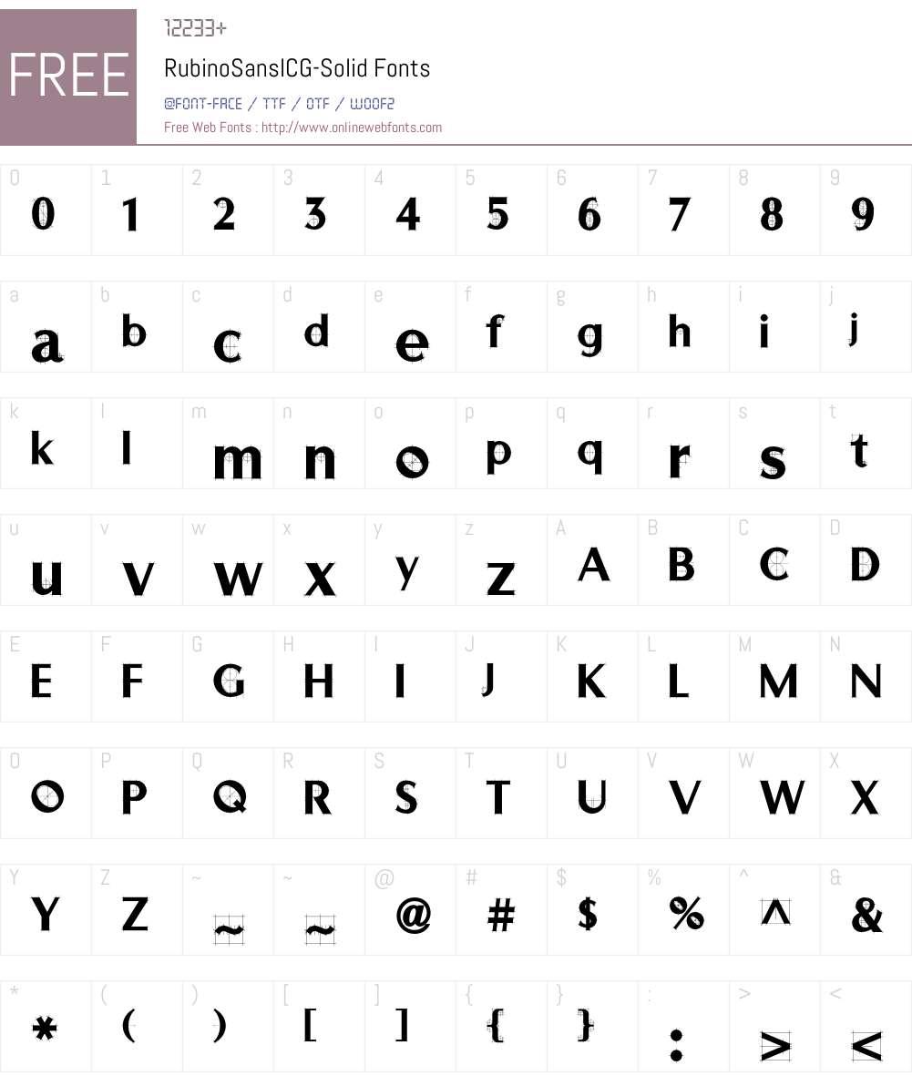 RubinoSansICG Font Screenshots