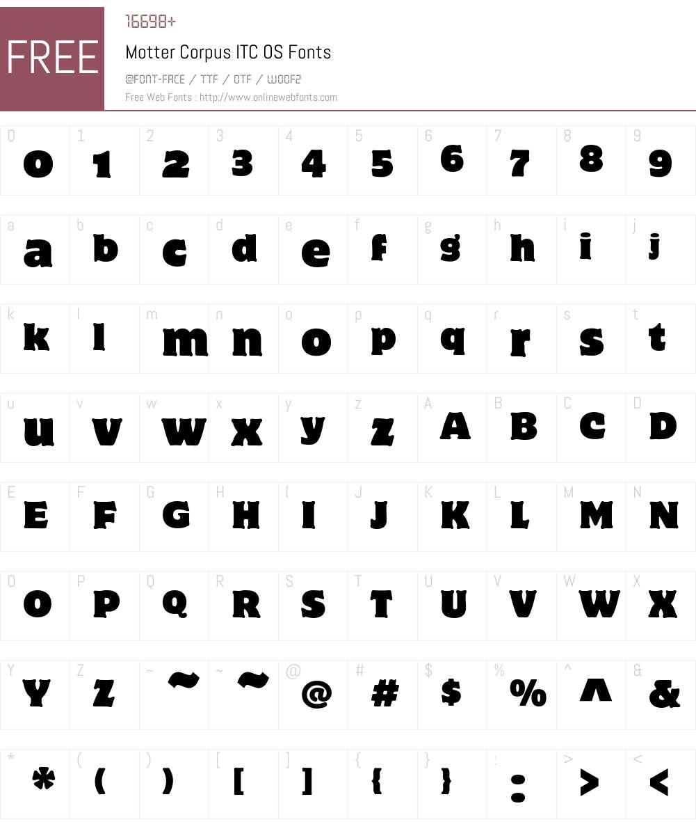 Motter Corpus ITC OS Font Screenshots