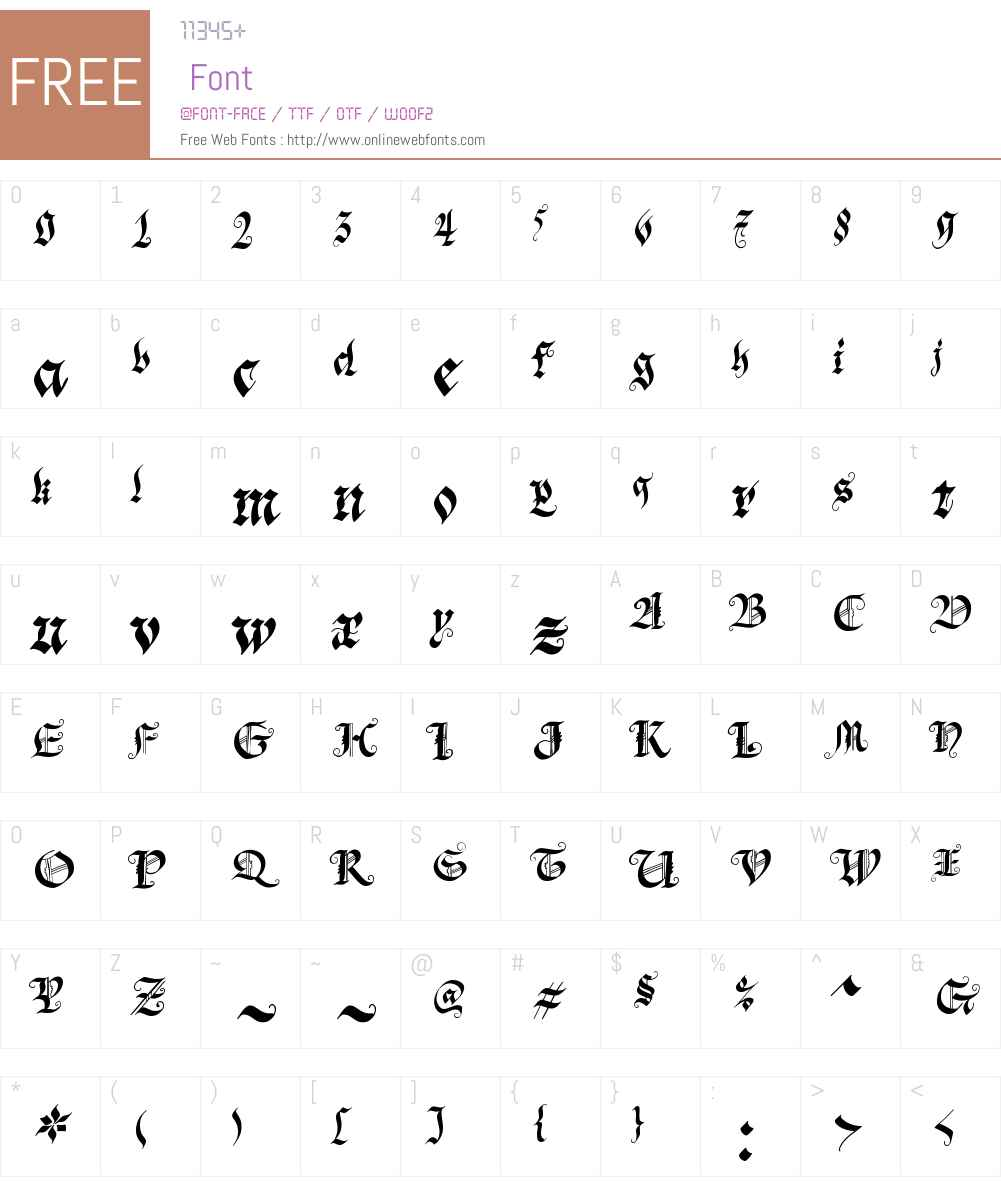 Blonde Fraktur Font Screenshots