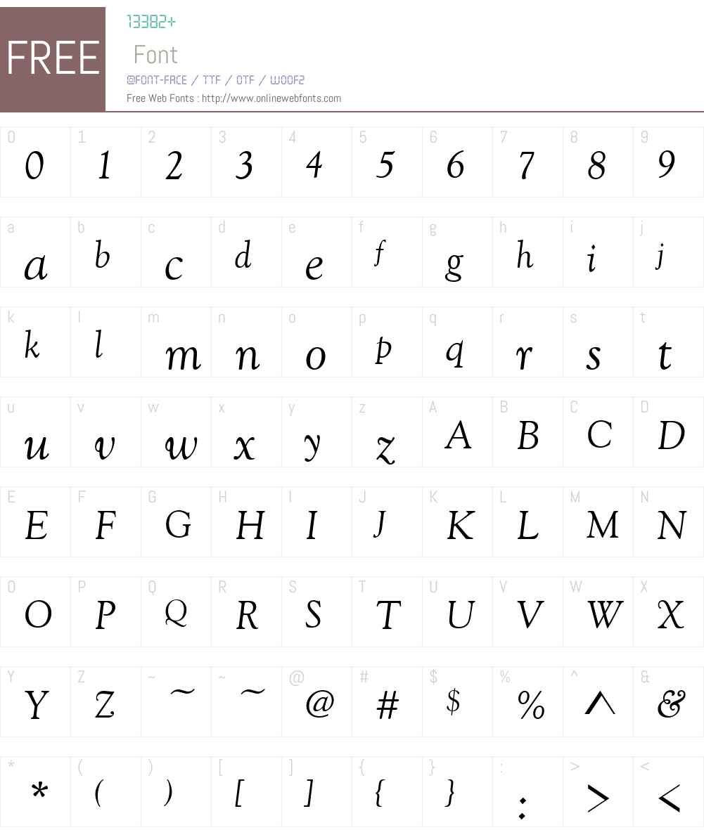 Goudy Old Style Font Screenshots