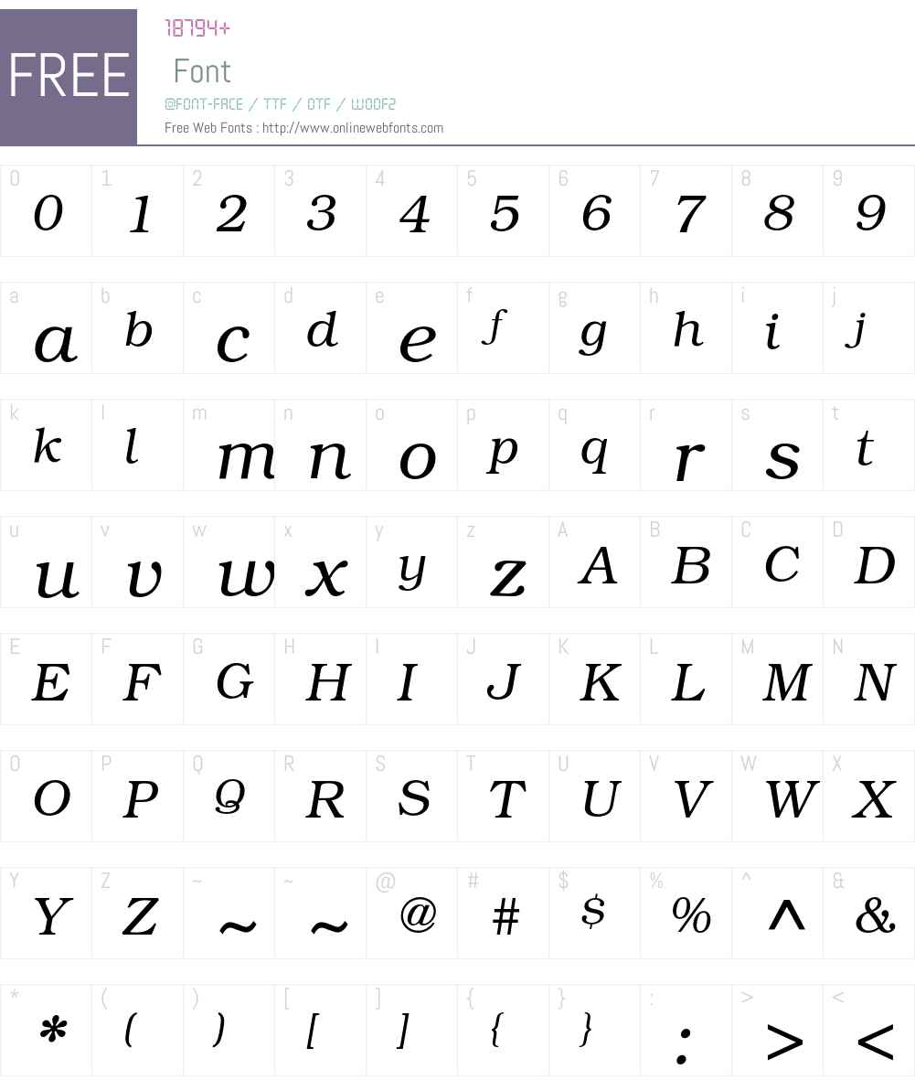 Bookman ITC Std Font Screenshots