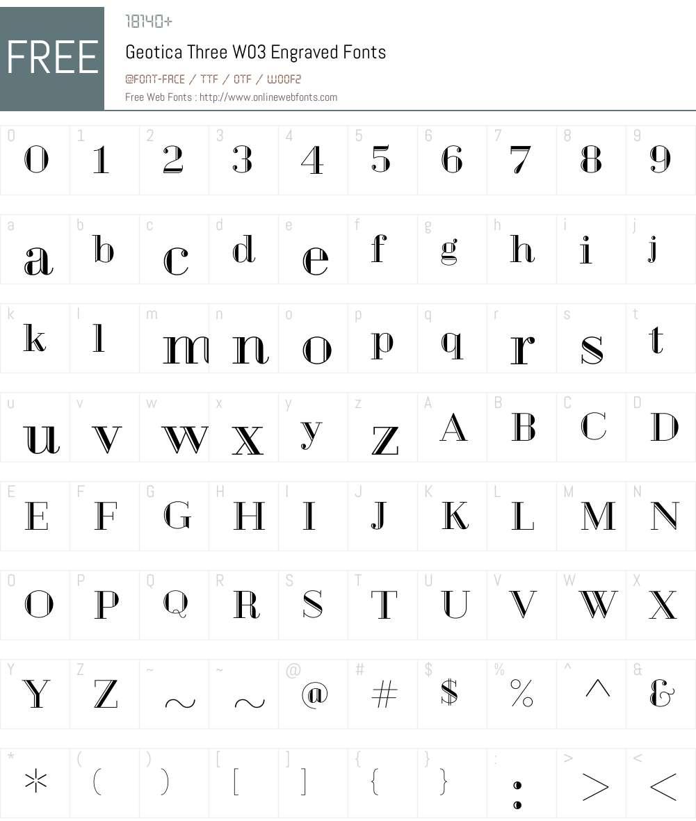 Geotica Font Screenshots