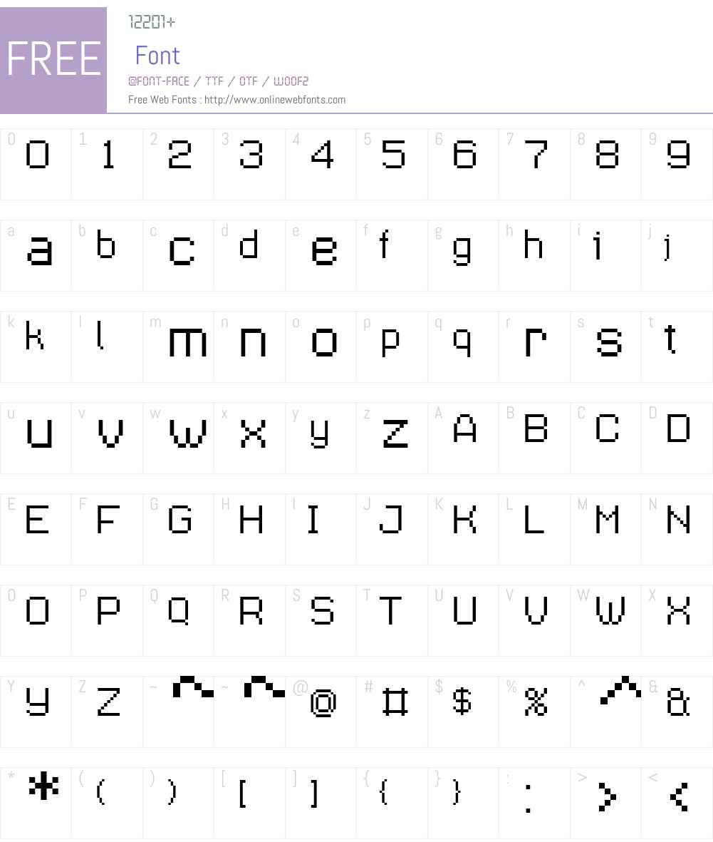 Supernormale Font Screenshots