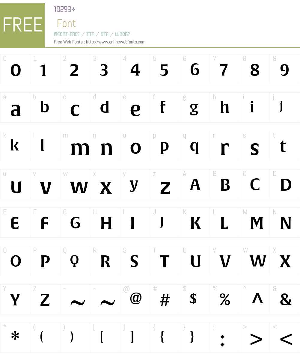 AlverataW01-IrrglPESmBd Font Screenshots