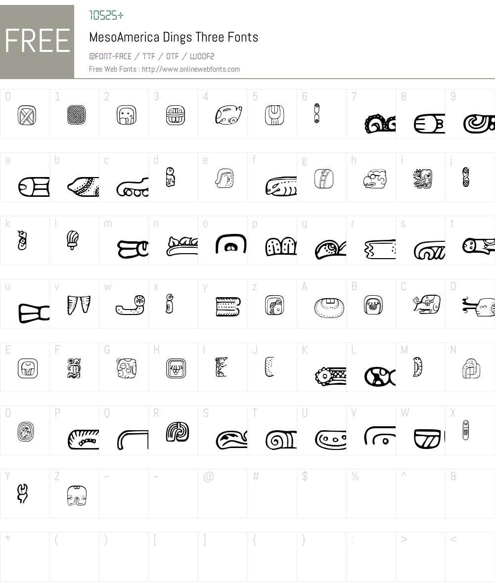 MesoAmerica Dings Three Font Screenshots