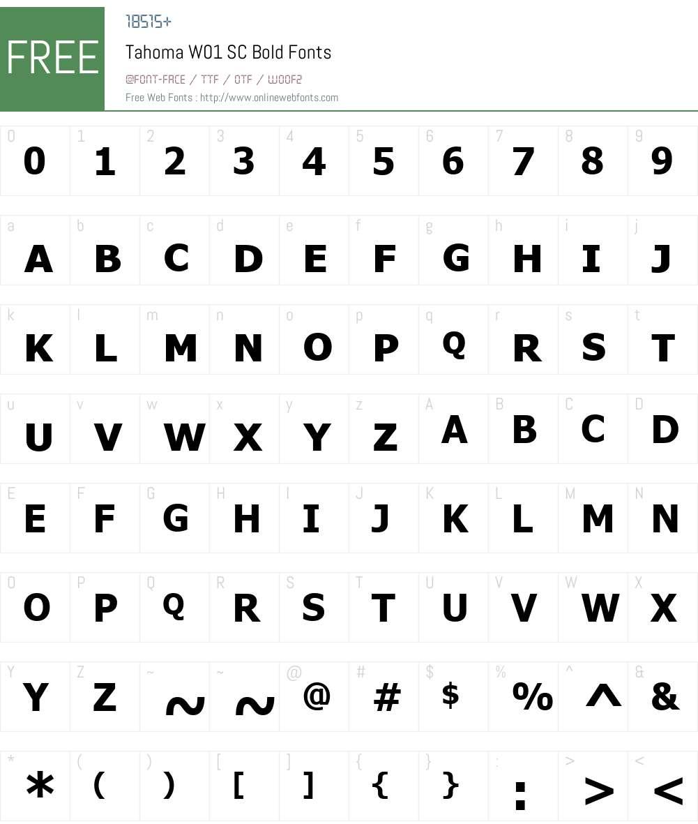 TahomaW01-SCBold Font Screenshots