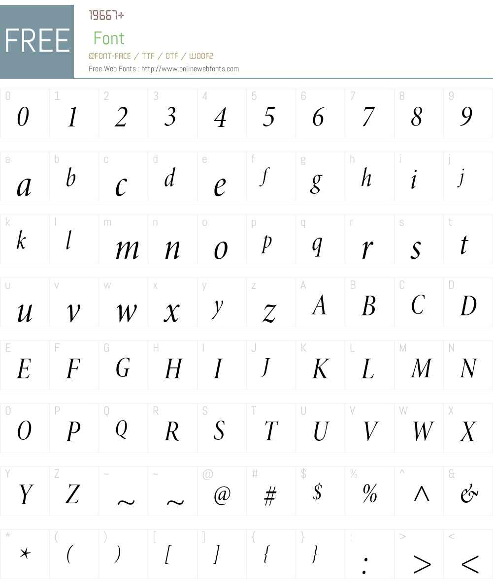Minion Pro Font Screenshots