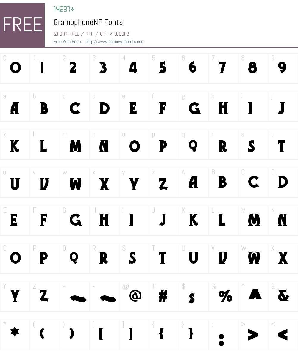 Gramophone NF Font Screenshots