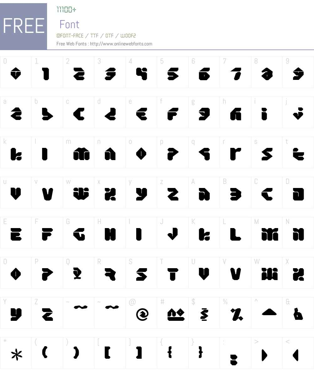 Eraser Font Screenshots
