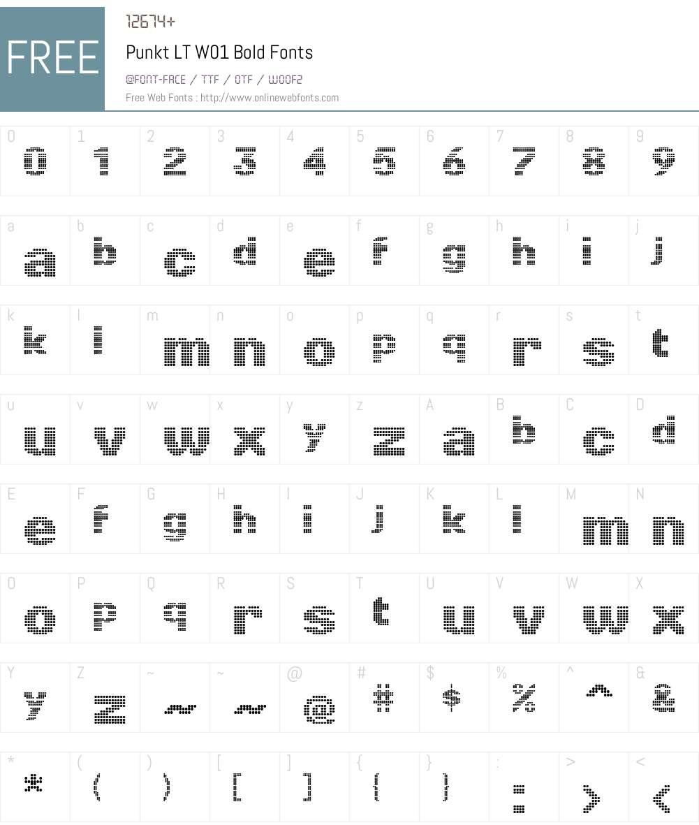 PunktLTW01-Bold Font Screenshots