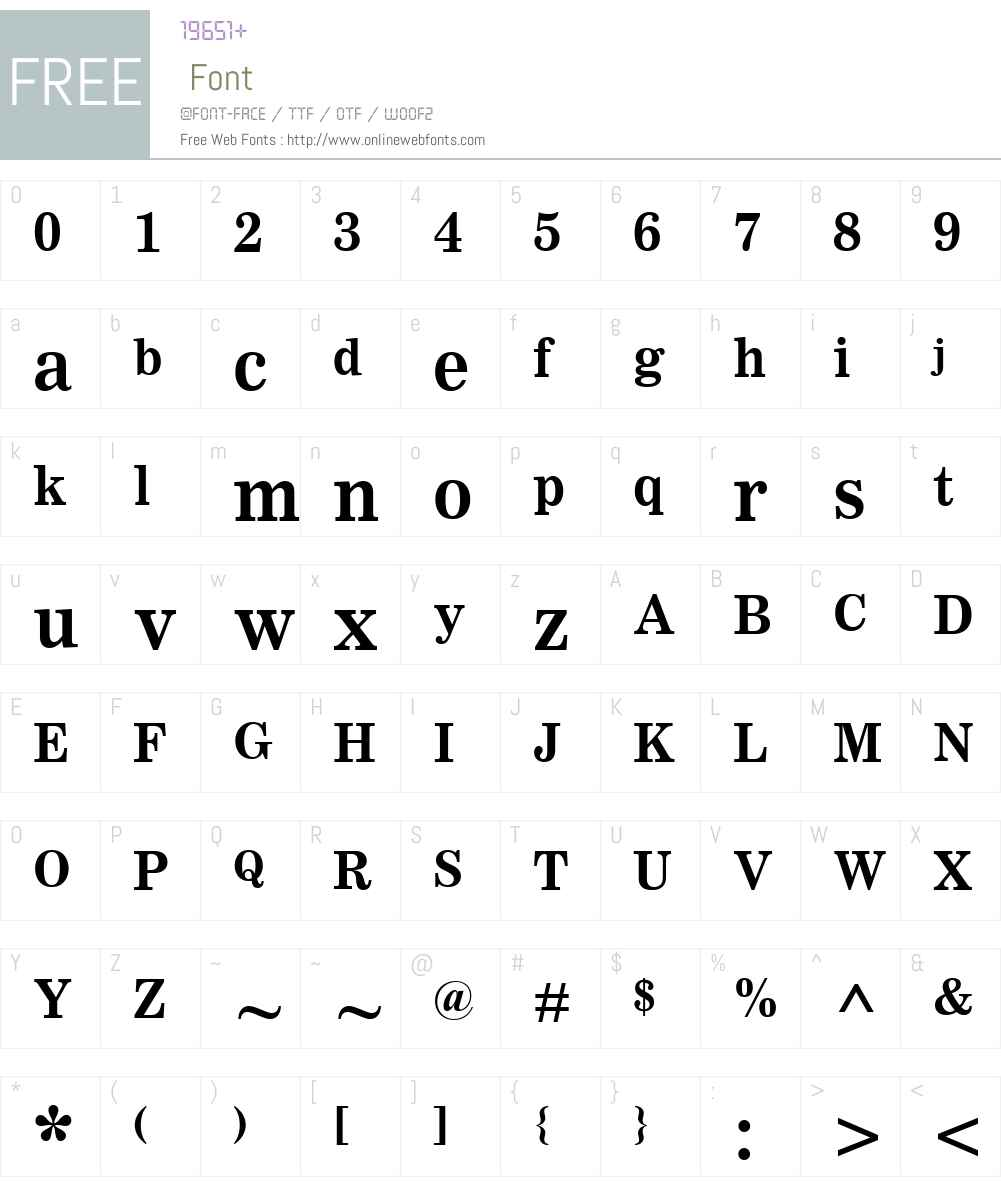 ClarionMTW01-Bold Font Screenshots
