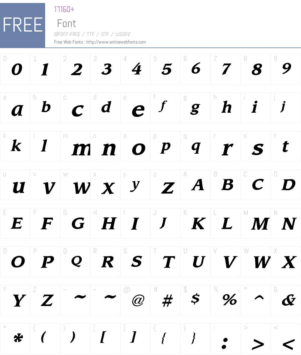 Leawood Font Screenshots