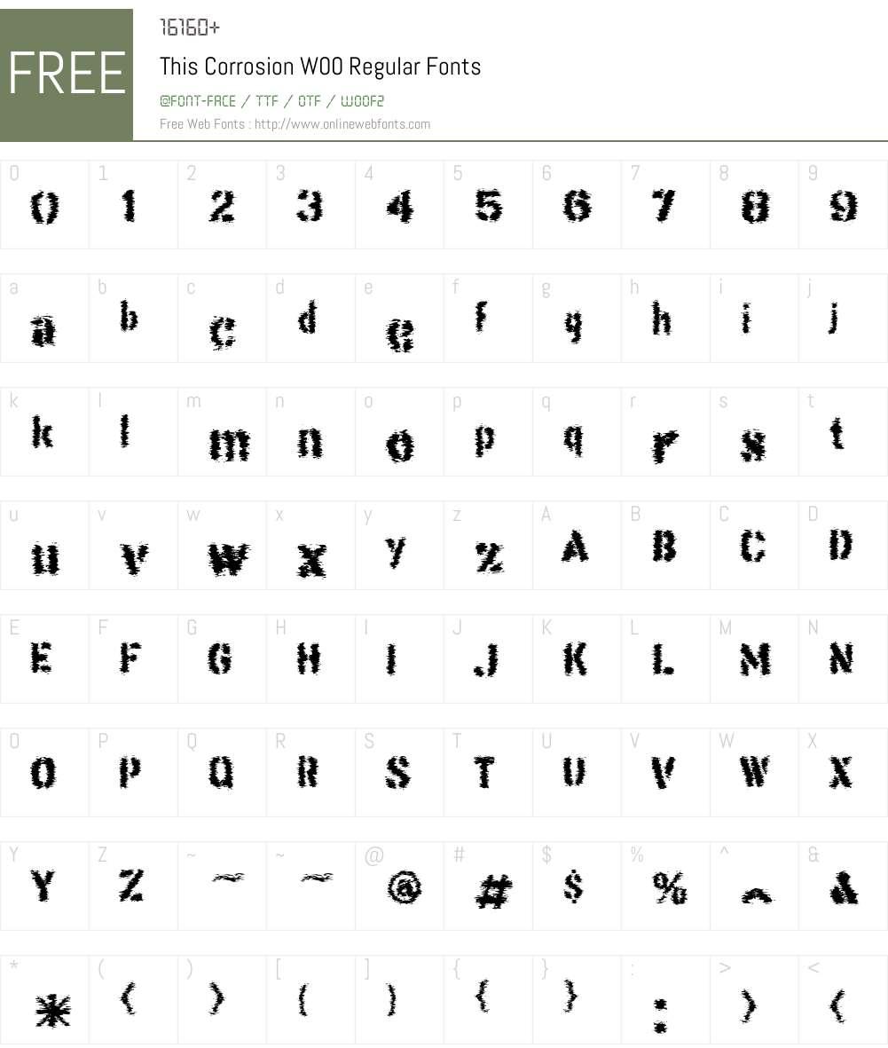 This Corrosion Font Screenshots