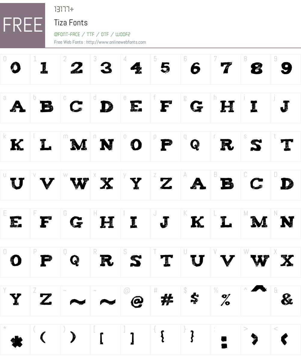 Tiza Font Screenshots