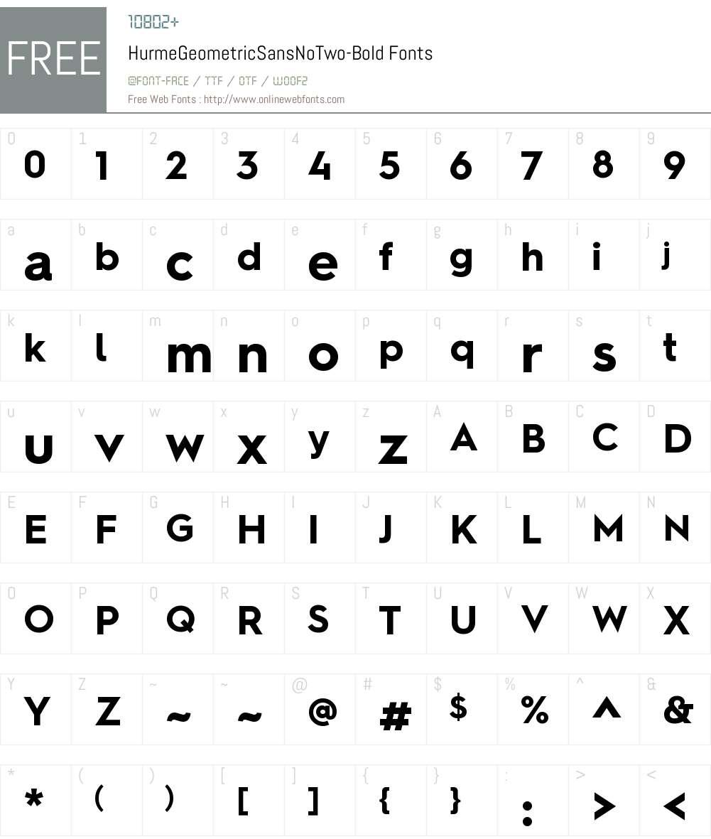 Hurme Geometric Sans No Two Font Screenshots