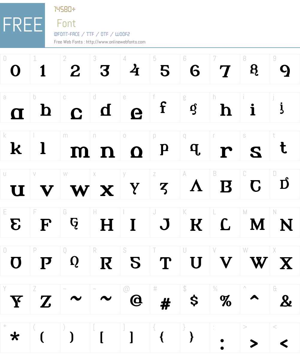 Alembic Font Screenshots