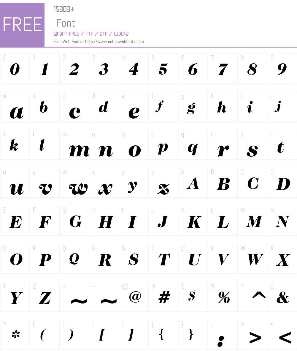 ITC Caslon No.224 Font Screenshots