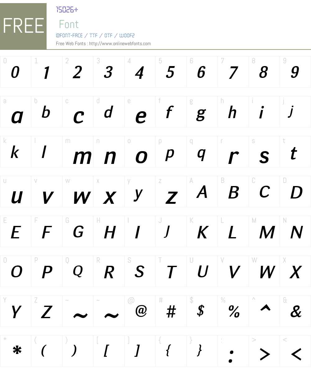 DecaSansW01-MediumItalic Font Screenshots