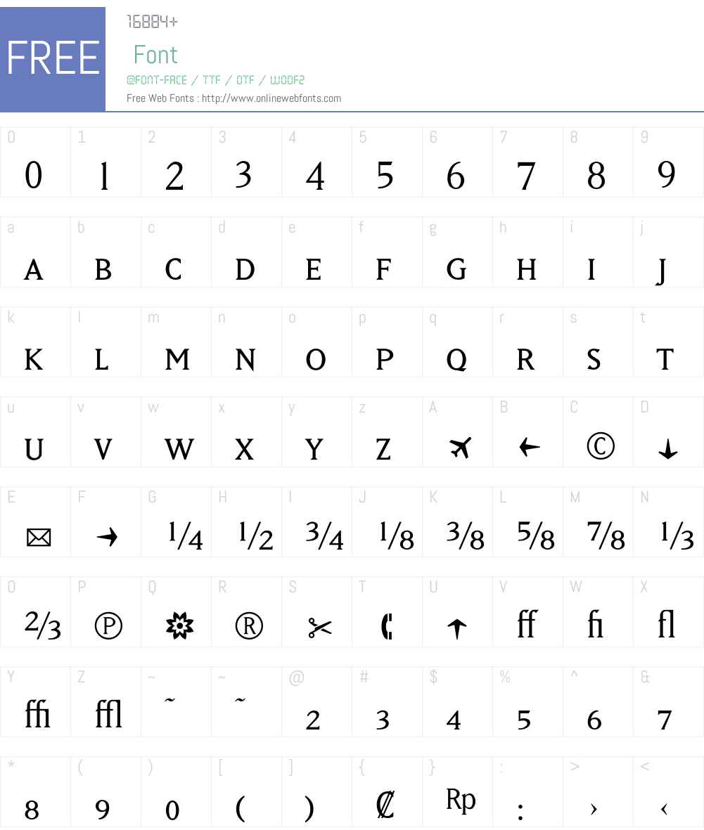 MatrixBookFractions Font Screenshots