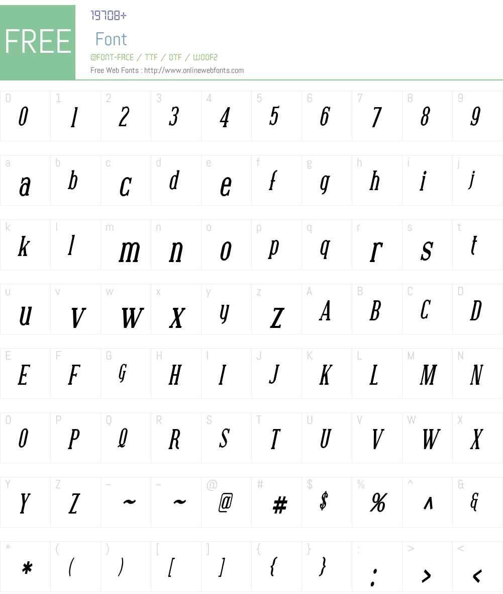 Covington Cond Font Screenshots