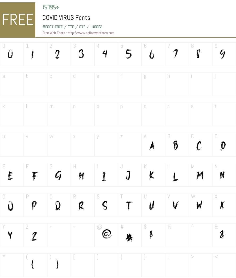 COVID VIRUS Font Screenshots