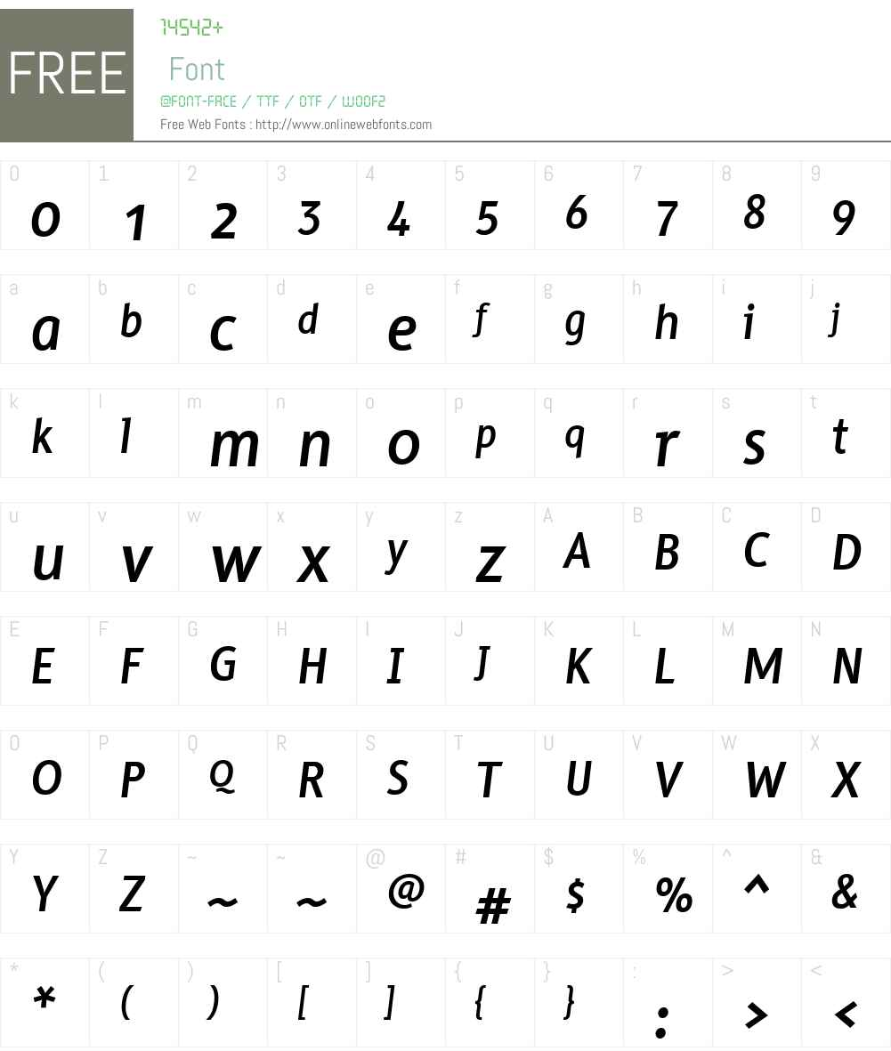 BFTaraW00-BoldItalic Font Screenshots