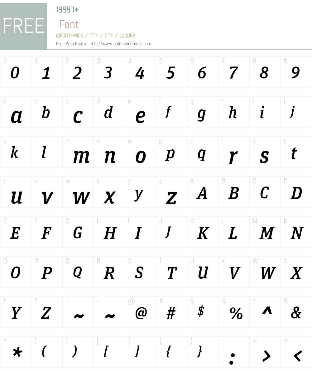 UnitSlabWeb-MediumItaW03-Rg Font Screenshots