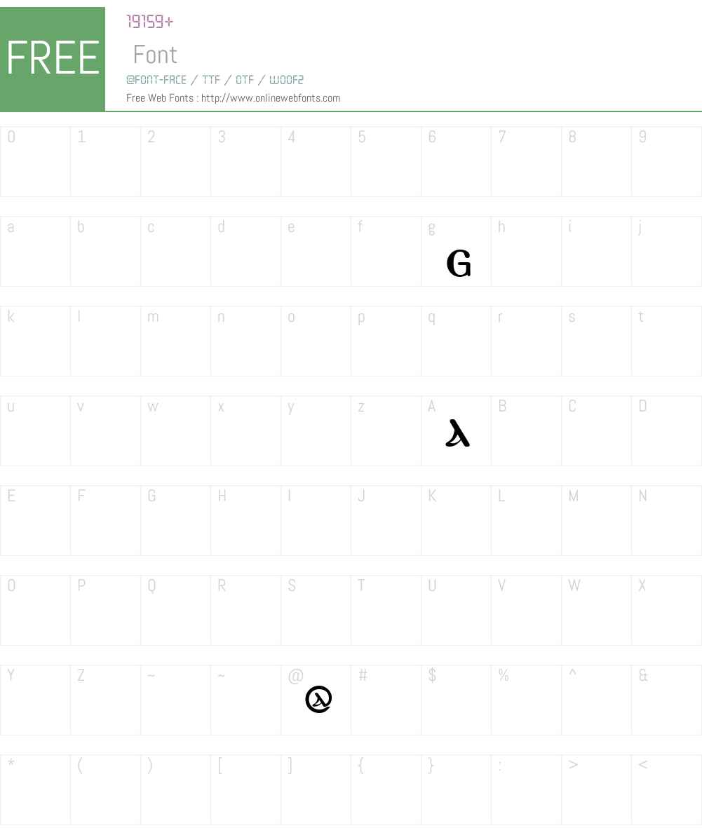 PachomiusTwoW90-Regular Font Screenshots