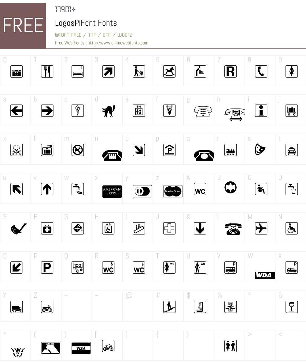 LogosPiFont Font Screenshots
