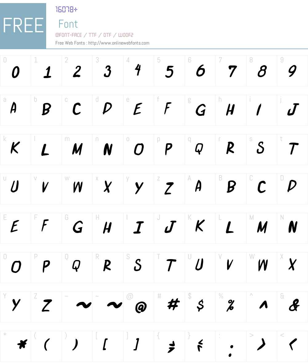 miniquest Font Screenshots