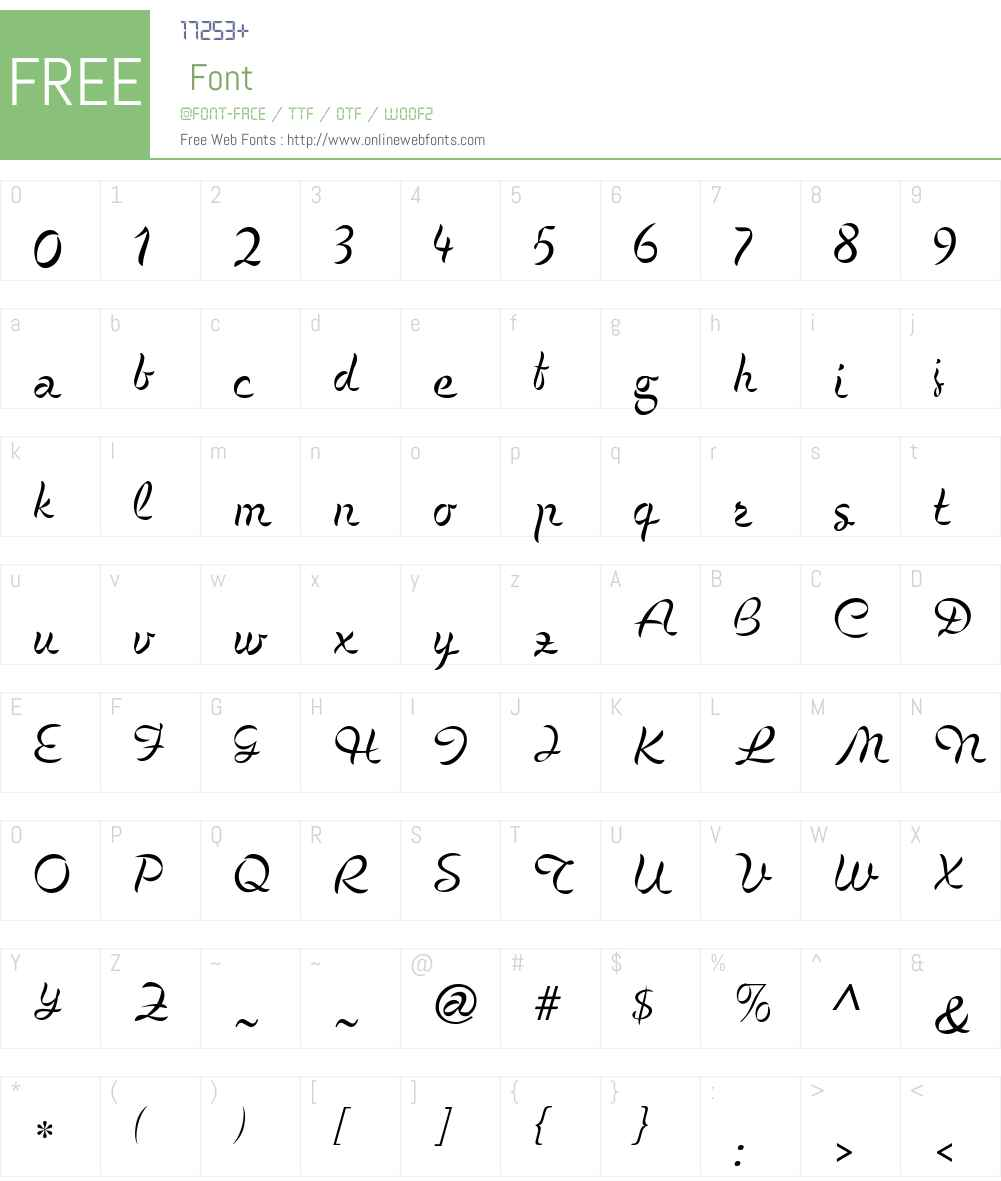 Cigno Font Screenshots