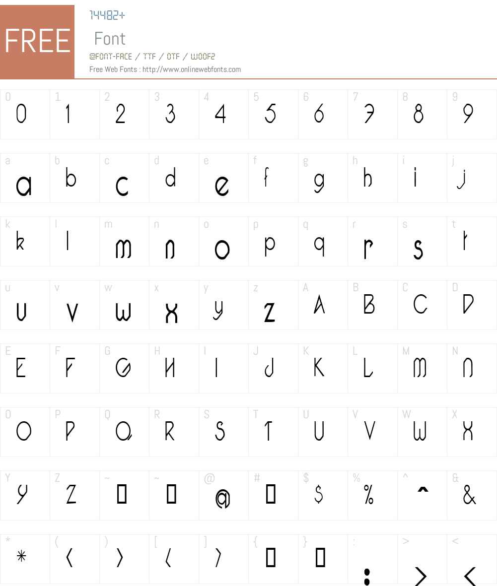 Pacotillenarrow Font Screenshots