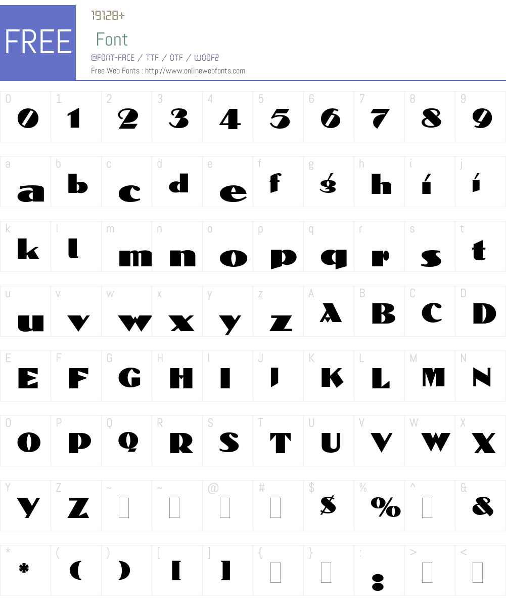 Dolmen Font Screenshots