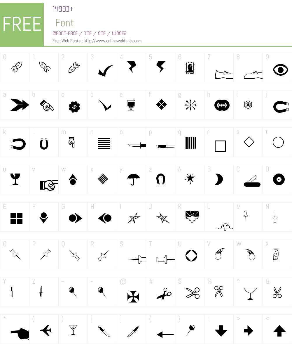 Journal Dingbats 3 Font Screenshots